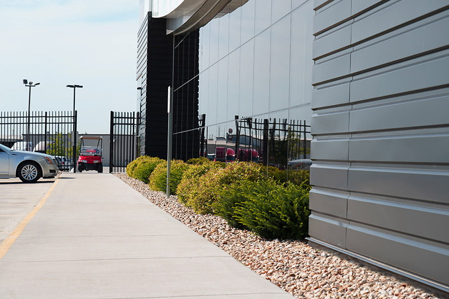 Photo of landscaping in front of Kenworth