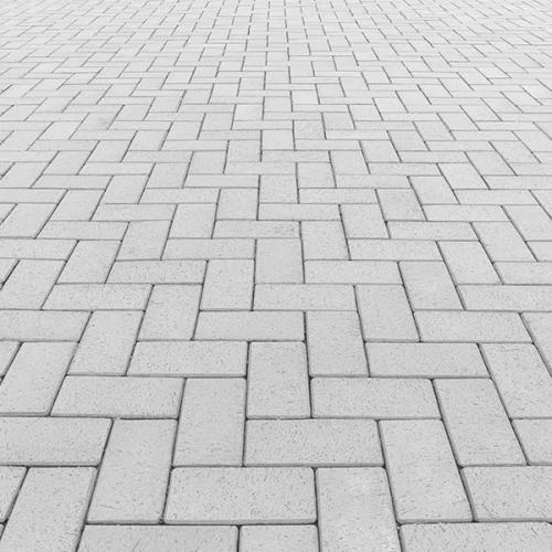 Image of white Brick style pavers